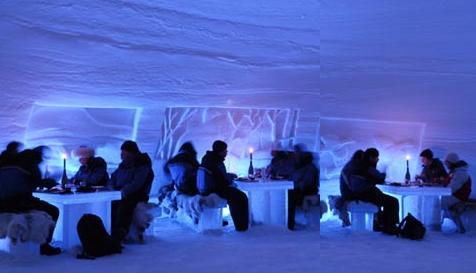 cena en el hielo